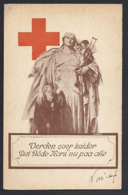 Danish Red Cross World War I Signed Postcard Poincaré 58th Prime Minister France
